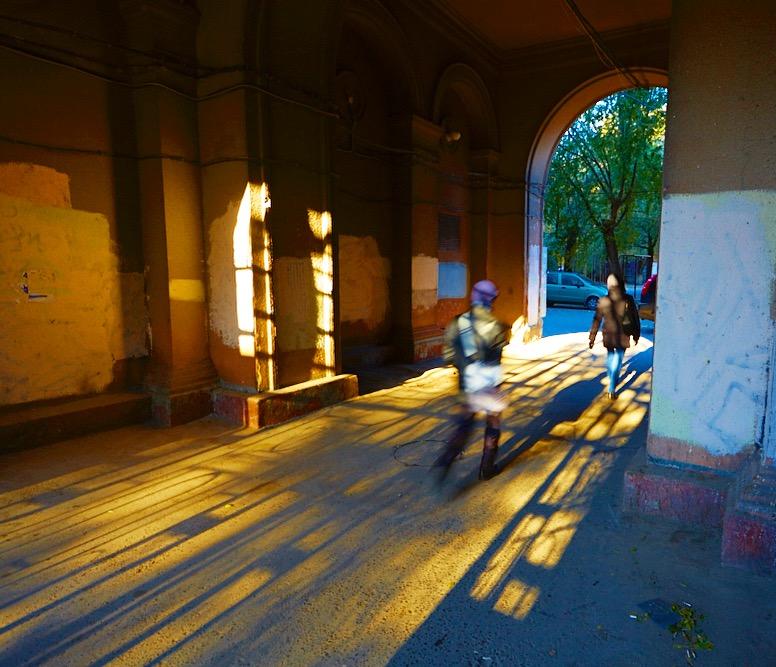 Фотография Уличные рассветные узоры