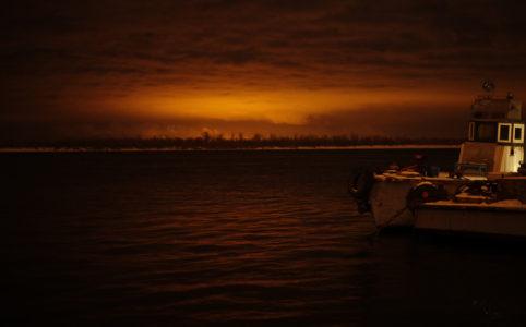 Фотография Волги ночью зимой